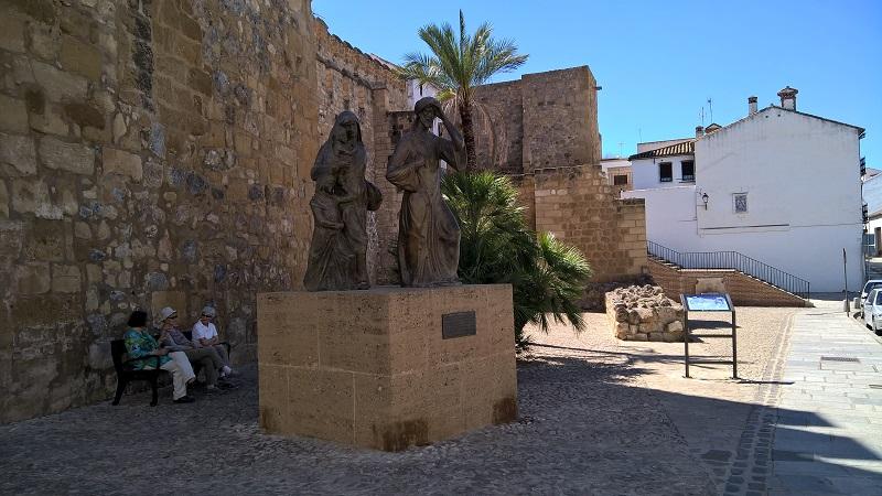 Plaza del Carmen an der (bezwingbaren) Nordseite der Alcazaba