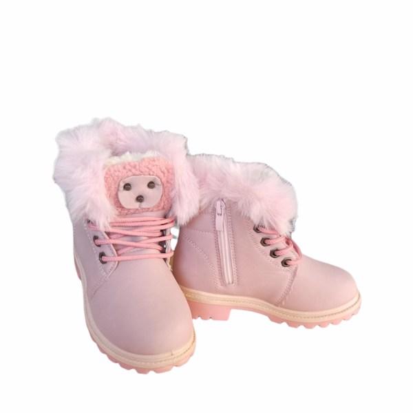 Botas rosa con forro polar