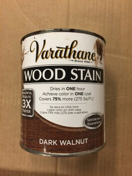Dark Walnut Varathane wood stain