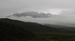 Cotopaxi in the coulds - 6.30 a.m.