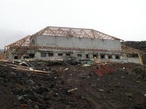 Construction site - Refugio José Ribas