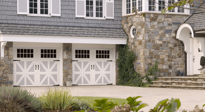 Two Tone Garage Doors