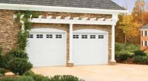 garage door trellis in Cache Valley