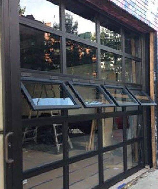 Garage Doors With Windows That Open, Window And Door Glass Replacement