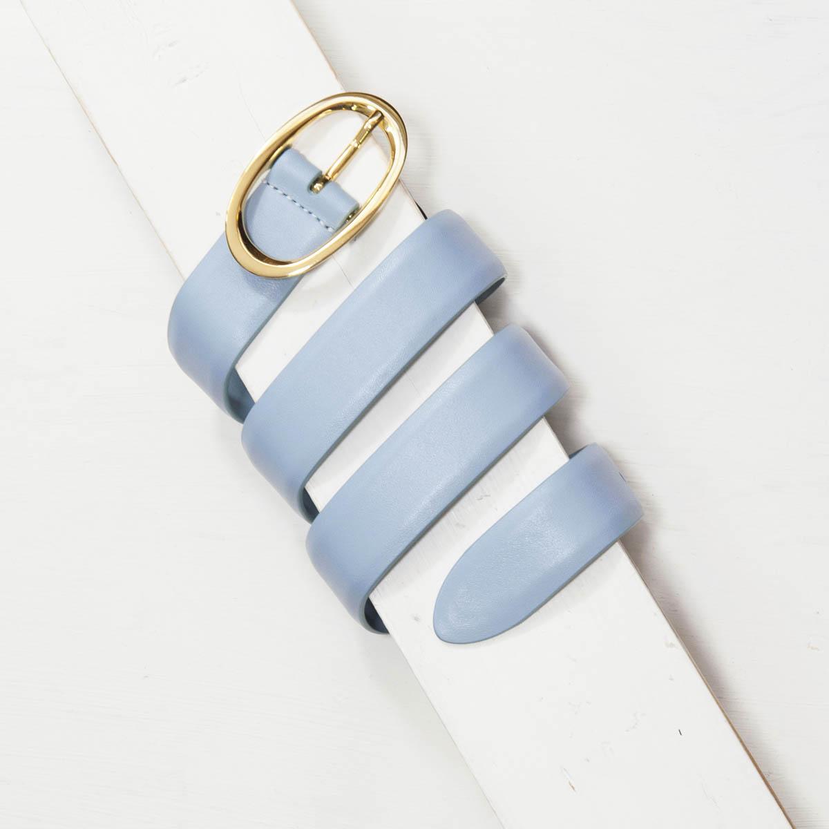 3,0 cm LIGHT BLUE NAPPA LEATHER BELT