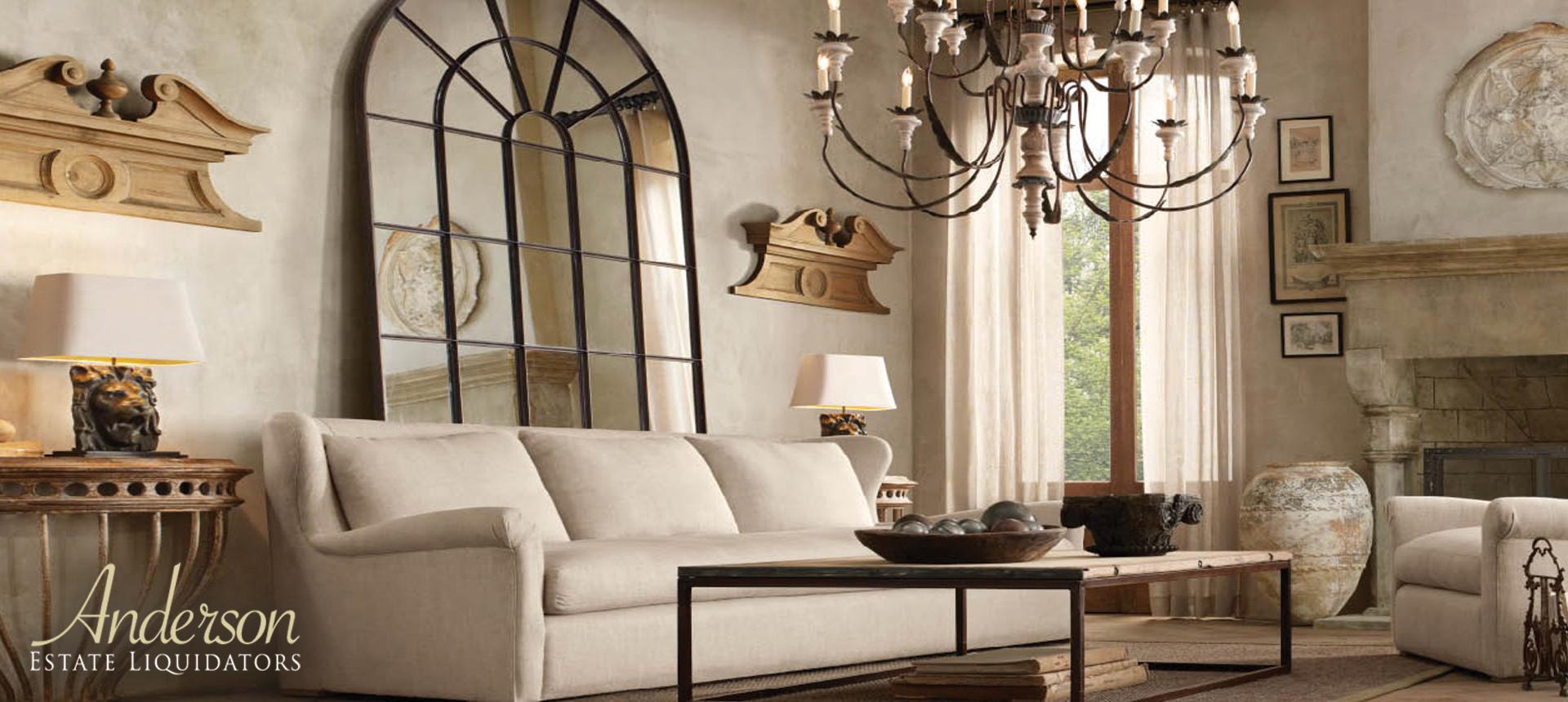 hanging chair restoration hardware folding history anderson estate liquidators bay area sales let us
