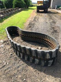 Rubber Tracks Hitachi digger