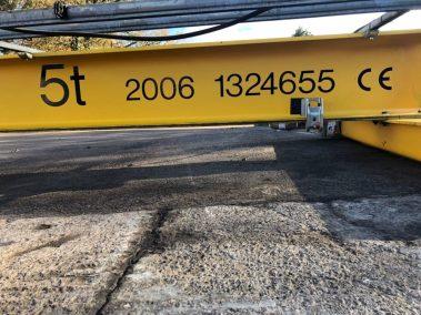 Demag Single Beam 5 Tonne Overhead Crane