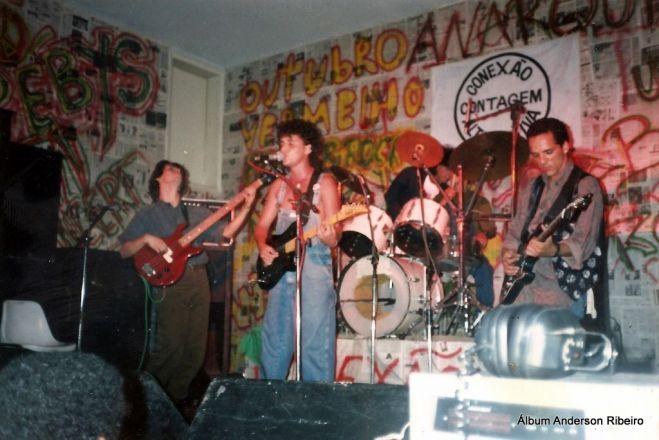 1991 - Urbi Et Orbi na gravação de clipe no Contagem Tênis Clube