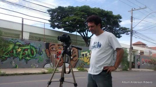Filmagem de entrevistas para o documentário Conexão Contagem Alternativa