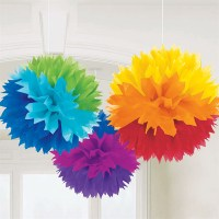 Rainbow Fluffy Tissue Paper Decorations | Anderson's