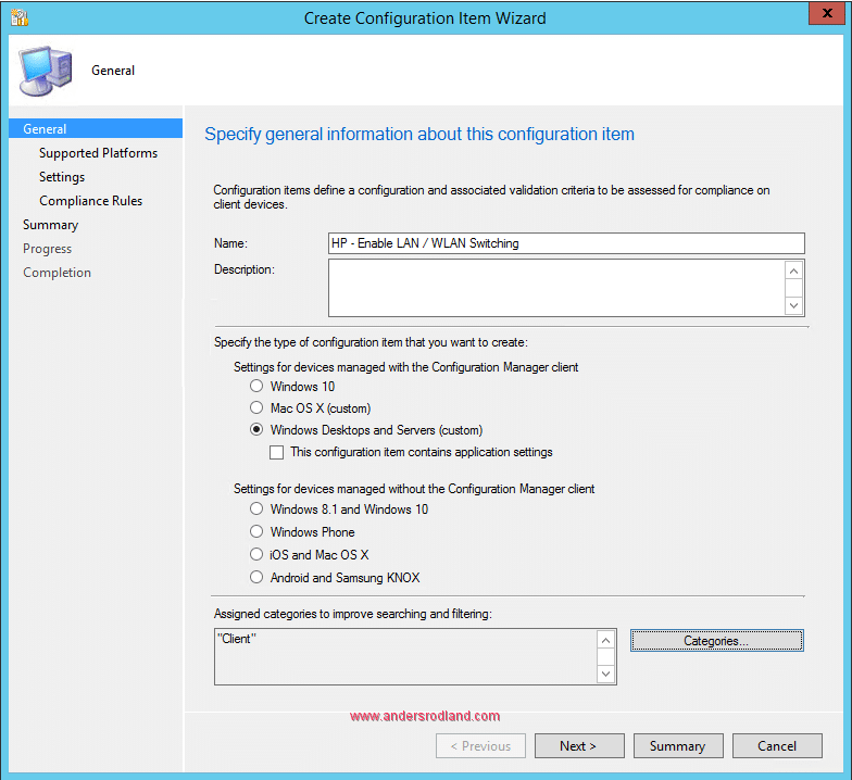 Manage BIOS Settings with SCCM Compliance Settings