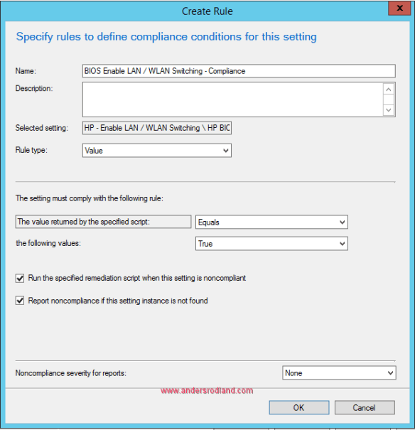Manage BIOS Settings with SCCM Compliance Settings -6