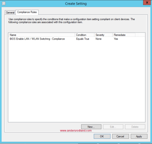 Manage BIOS Settings with SCCM Compliance Settings -7