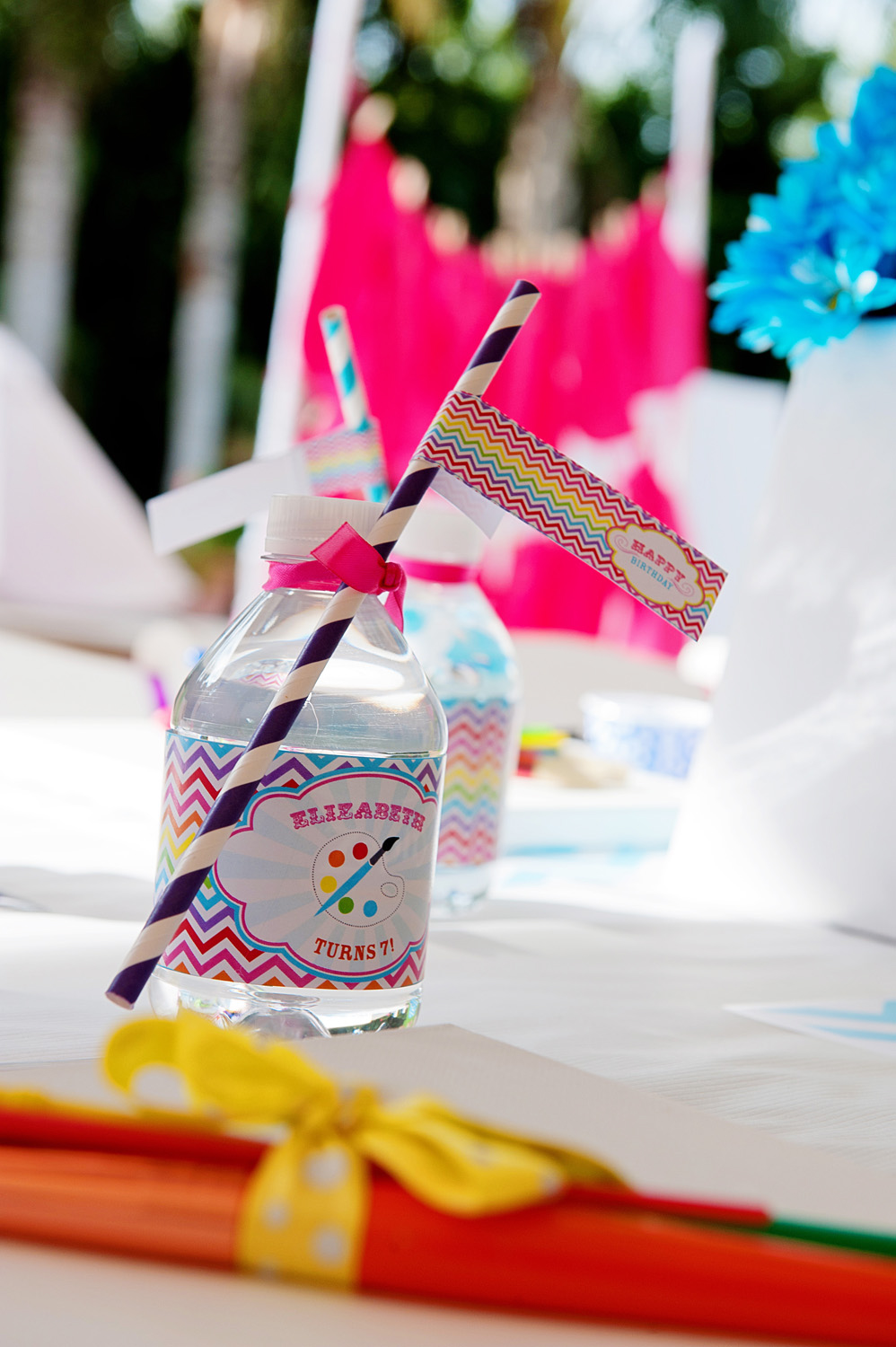 A Bright and Trendy Chevron Arts and Crafts Party  Anders Ruff Custom Designs LLC