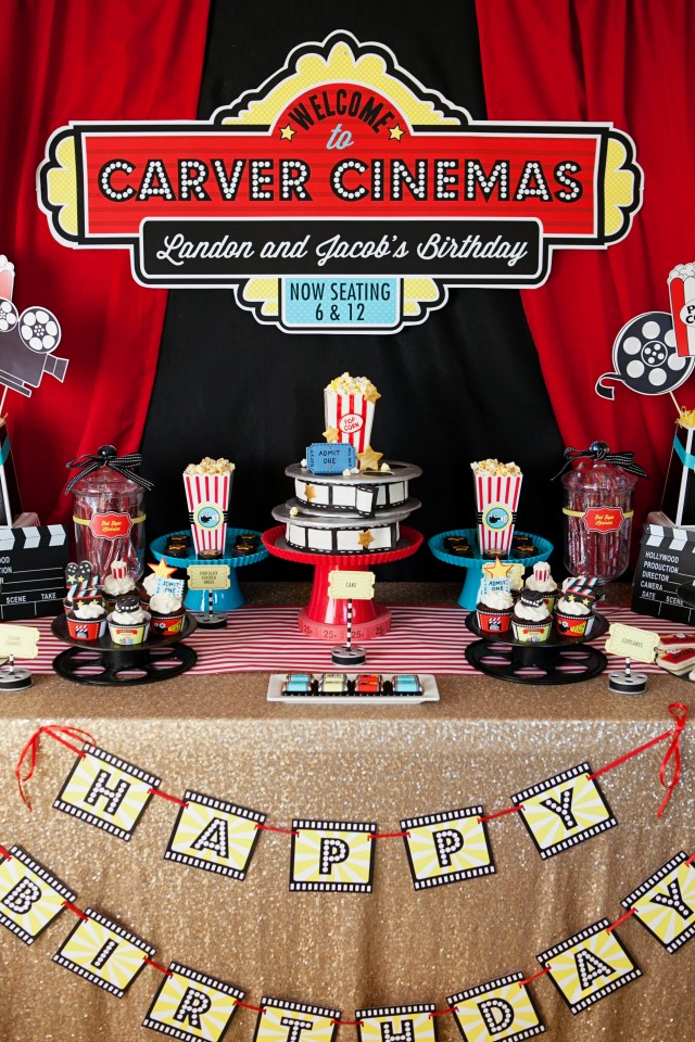 Banner Events Lights Camera Movie Party on Everyday Party Magazine