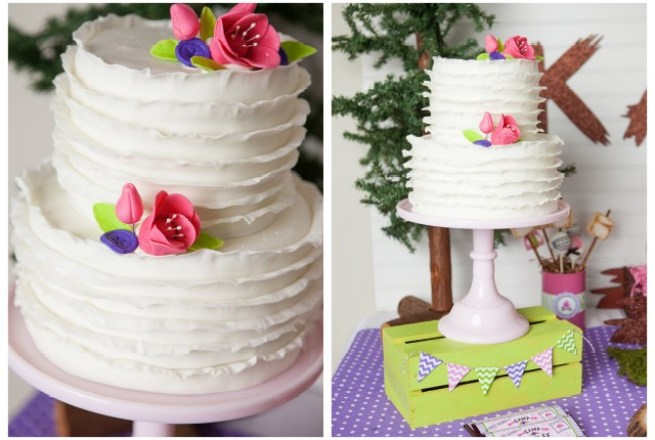Ruffle fondant cake