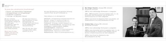 Rechtsanwaltskanzlei Drescher & Hass Flyer Innen