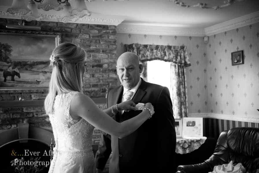 wedding day, bride, father of the bride