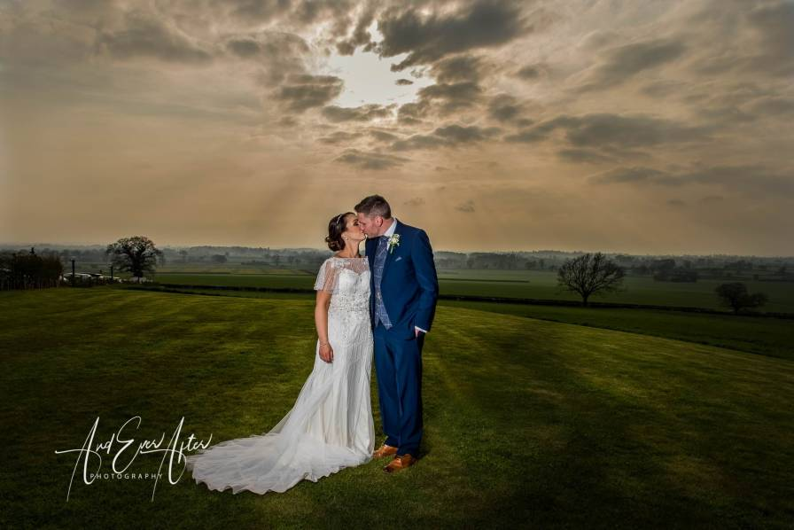 bride, groom, wedding day, love, sunset,