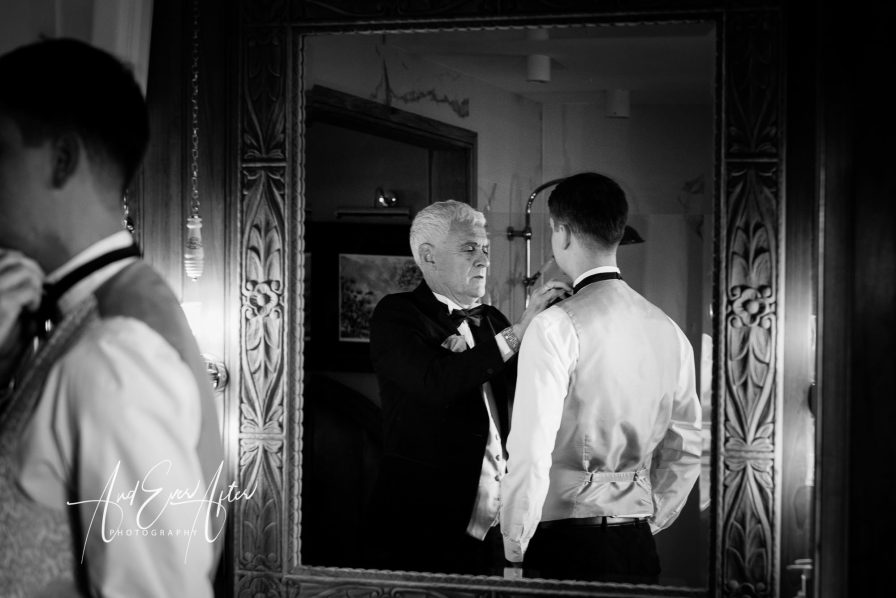 Wedding photography, groom preparations