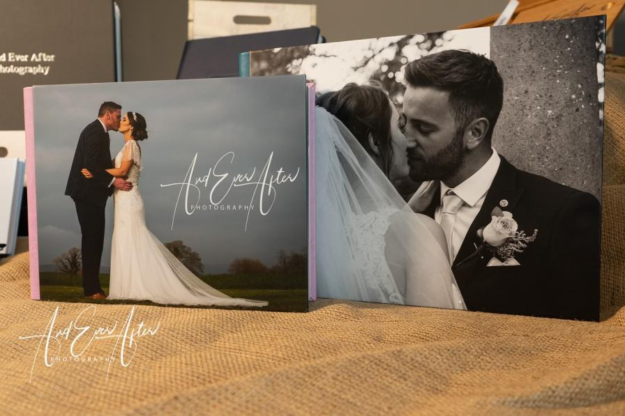 Handmade wedding album -