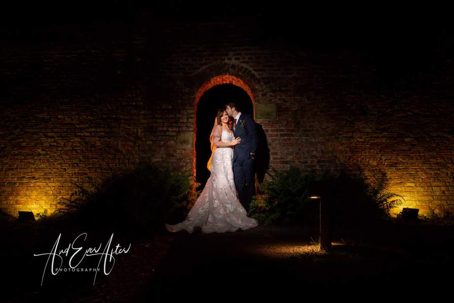 Wedding at Middleton Lodge, Wedding Couple photograph, creative photography