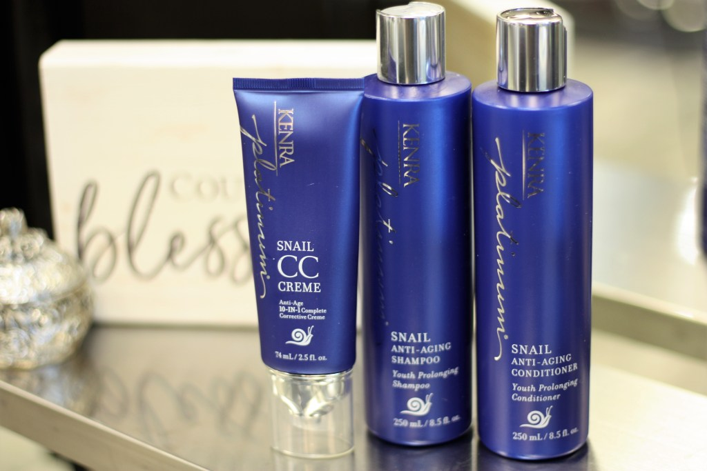 Anti-Age Haircare with Kenra Platinum Snail Collection
