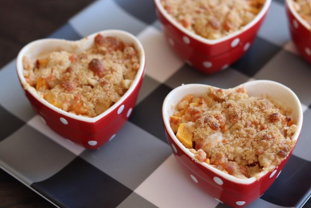 Peach & Apple Cobbler with Dietz & Watson Cheddar Cheese