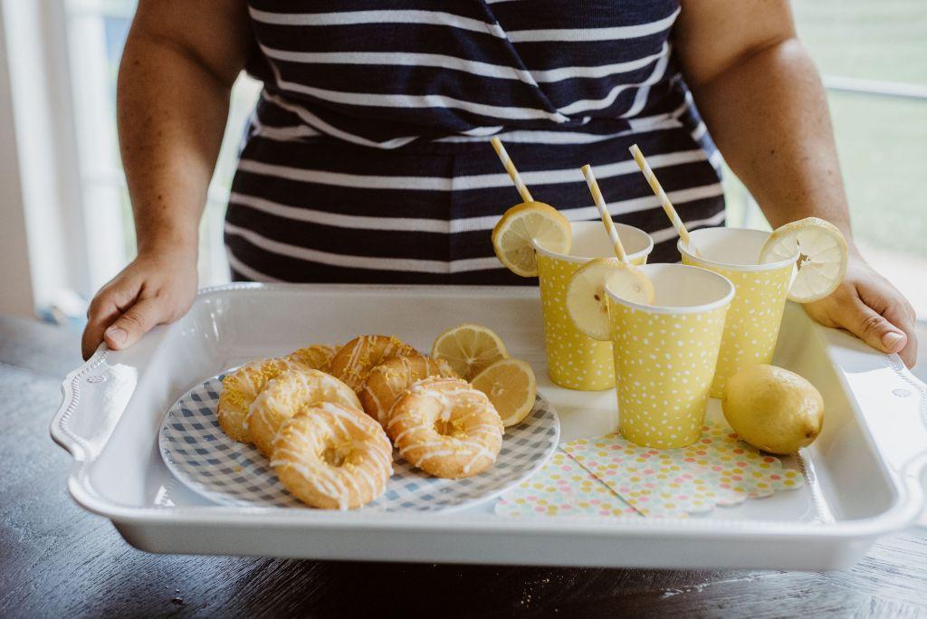 Easy Baked Lemon Cake Donuts