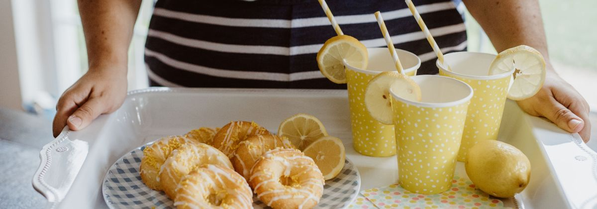 Easy Baked Lemon Cake Donuts