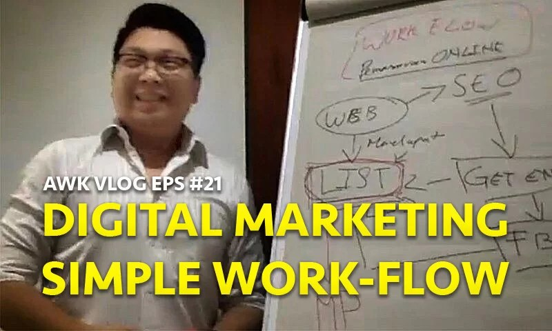 AWK Vlog Eps #21: Digital Marketing Simple Workflow