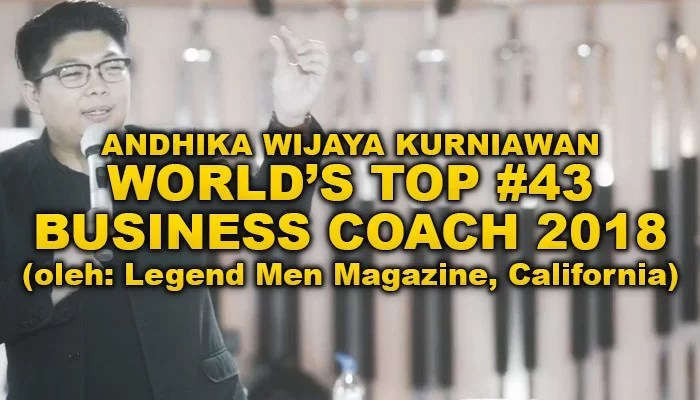 AWK Notes: Masuk World's Top #43 Business Coach 2018 – Legend Men Magazine, California
