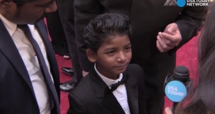 8-year-old Sunny Pawar is too cute at the Oscars