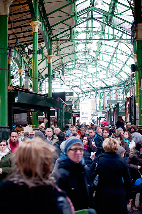 Crowd in Borough Market