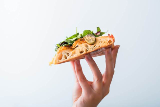 blat pufos pizza vegetariana