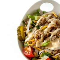 Cheeseburger Salad with Big Mac Dressing