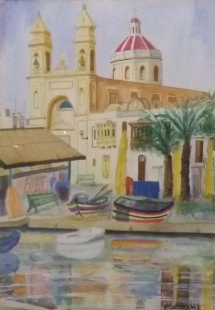 Marsaxlokk - Watercolour on paper by Andrea Kucza Andipainting