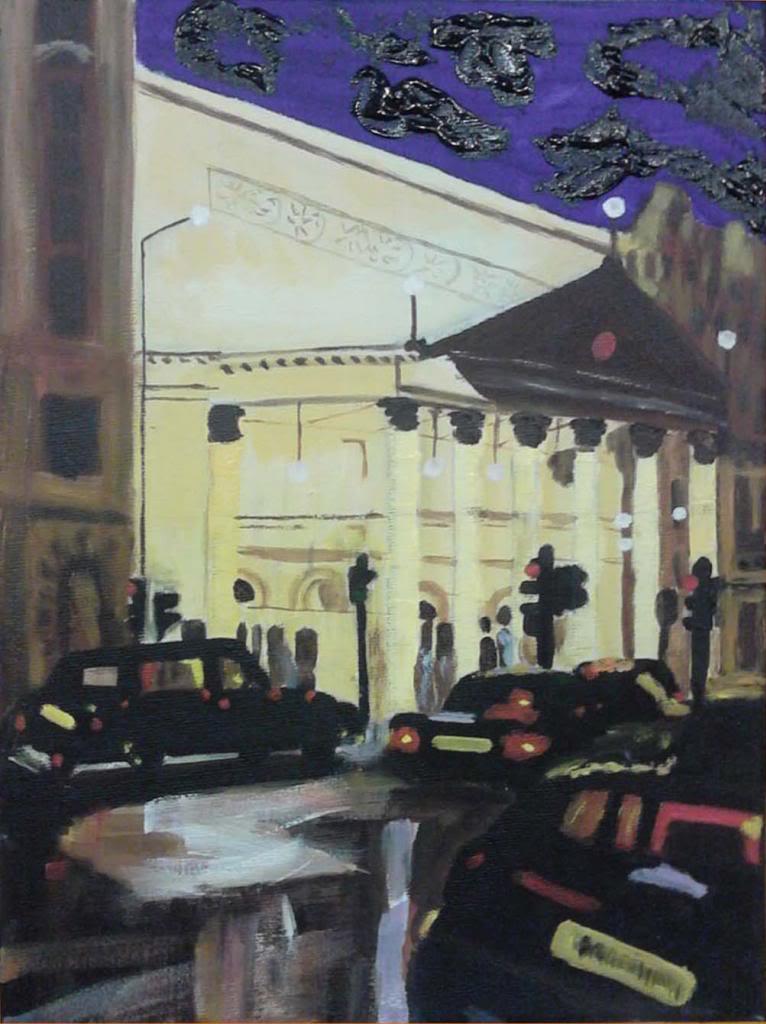 London - Acryilic on canvas by Andrea Kucza Andipainting