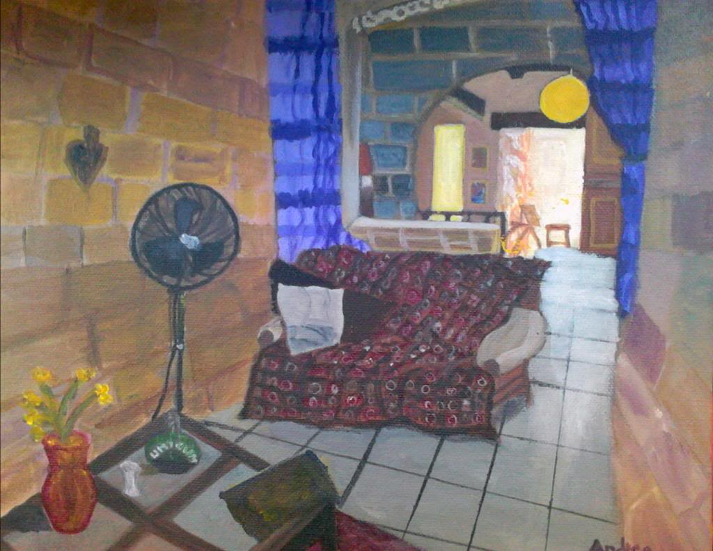 A room in Bormla - Acryilic on canvas by Andipainting