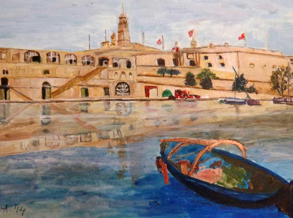 Senglea - Acryilic on canvas by Andipainting