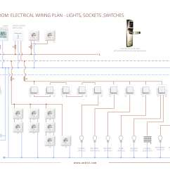 Single Line Telephone Wiring Diagram Ge Front Load Washer Electrical Installations: Layout Plan For A Typical Hotel Room | Andivi