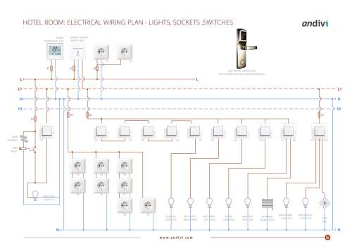 small resolution of electrical wiring plan hotel room lights sockets switches