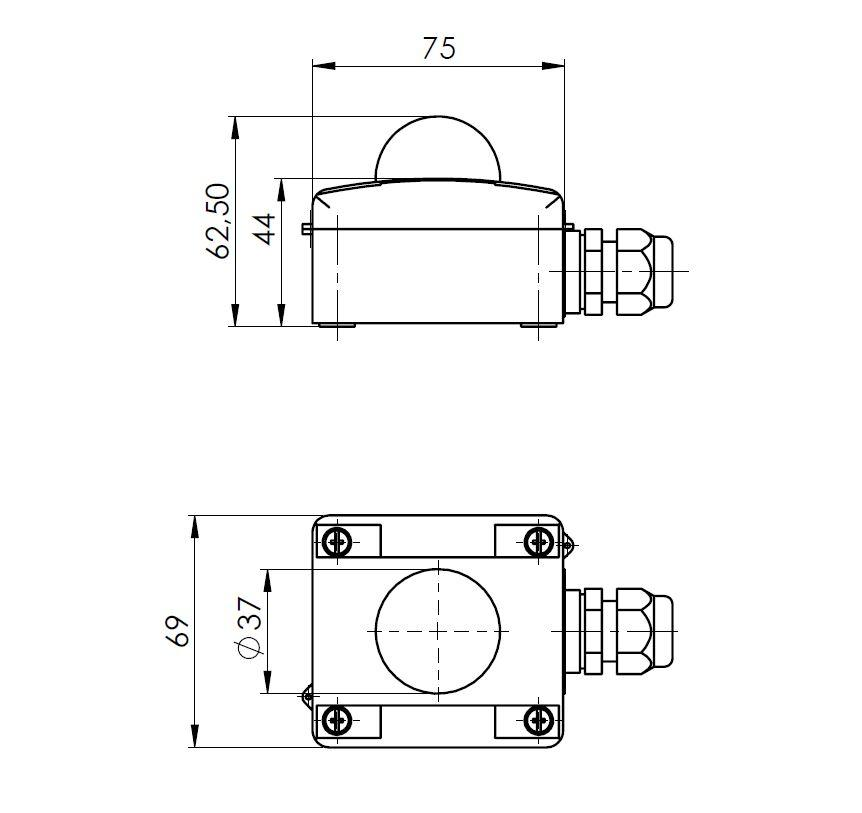 Modbus Outdoor Radiation Sensor ANDASTF/MD RS485 Sensor