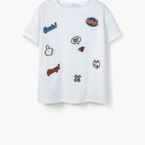 T shirt Mango patches