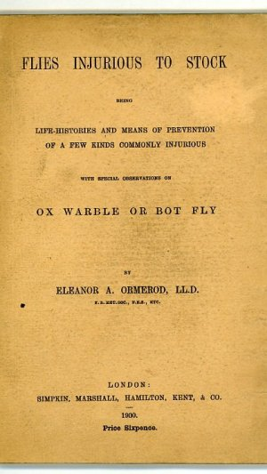 Flies Injurious to Stock being life-histories and means of prevention of a few kinds commonly injurious with special observation on Ox Warble or Bot Fly