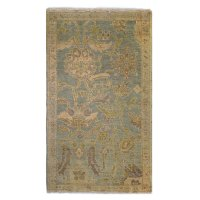 Tufenkian Traditional Gold Blue Green Wool Rug 6763 ...