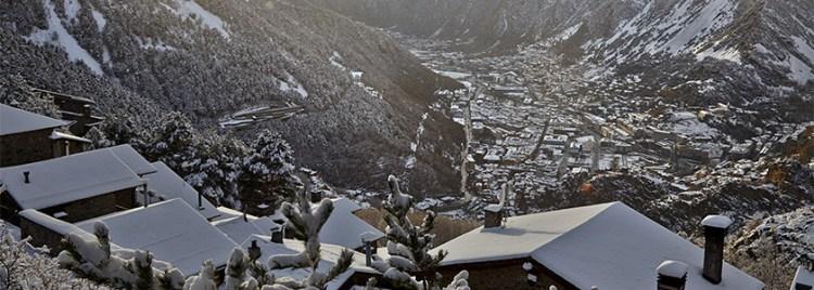 Andorra la Vella with snow