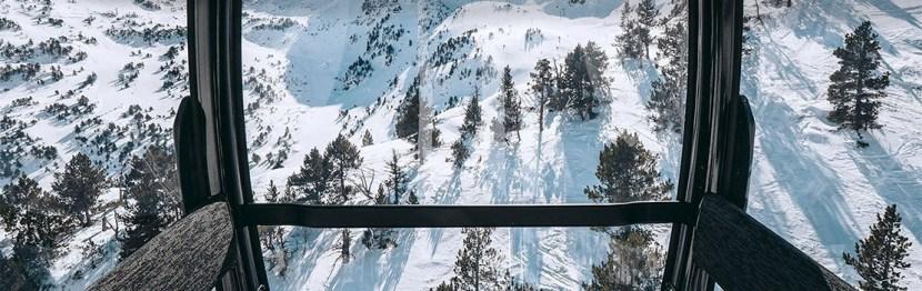 View from a gondola at Ordino-Arcalis