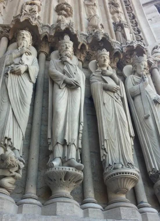 Dettaglio facciata Notre Dame